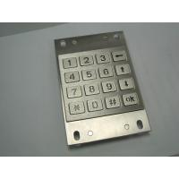 China Backlight Vandalproof ATM Pin Pad / Stainless Metal Keypad For Bank on sale