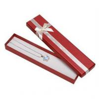 Handcraft Paper Bracelet Jewelry Box Attractive Cover 205x45x25mm Dimension With Lid