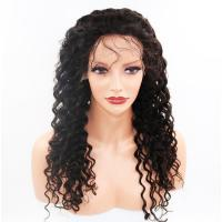 Buy cheap 100% Real Glueless Full Lace Wigs Full Density Natural Color #1B from Wholesalers