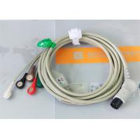 Buy cheap TPU Material Patient Monitor Accessories One Piece ECG Cable Compatible M&B from Wholesalers