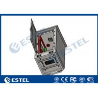 Buy cheap 24U Single Wall Outdoor Telecom Cabinet With Fan Cooling Galvanized Steel Material from wholesalers