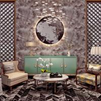 Buy cheap Printing And Foam Contemporary Bedroom Wallpaper With Natural Plant Fibers , SGS CSA from wholesalers