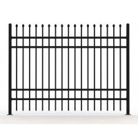Buy cheap Garrison Tubular Fence Panels 2100mm*2400mm black powder coated from wholesalers