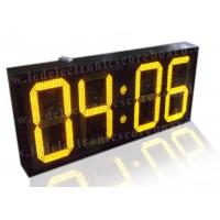 Quality 20 Inch Yellow Color Commercial Digital Clock , Led Display Clock 88 / 88 Format wholesale