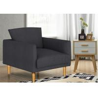 Casual Stylish Upholstered Accent Chairs Solid Wood Fabric For  Living Room