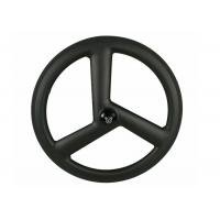 Buy cheap 43MM *23MM 451 BMX Carbon Wheel Tri Spoke Clincher 20 Inch Cycling from wholesalers