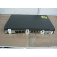 China 4 SFP Ports Uplink Used Cisco 3750 Switch , Second Hand Cisco Equipment Catalyst on sale