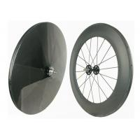 Buy cheap Track Bike Carbon Fiber Wheels 700C Hot Wheels Tracks Disc Wheel Rear 23MM from Wholesalers