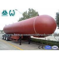 Buy cheap Manual Tri Axle 56CBM Aluminium Alloy LPG Tank Trailer Big Capacity from wholesalers