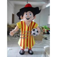 Buy cheap Argentina Football Boy mascot costume/customized fur person character mascot costume from Wholesalers