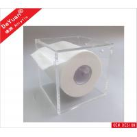Buy cheap Square Magnetic Tissue Acrylic Holder Stand Wall Mounted For Toilet from wholesalers