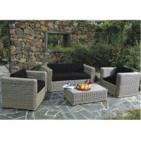 Buy cheap Outside Furniture Retro Style Rattan Furniture Sofa Dark Grey from wholesalers