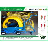 Buy cheap 40L Children Shopping Trolley / Light Duty wire shopping cart with wheels from Wholesalers