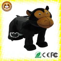 Plush motorized animal kiddy ride machines for children amusement steel frame, fireproof plush
