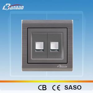 LK6028 PC flush type 2way network socket