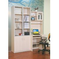 Buy cheap Wood White Bookcase With Glass Doors , Solid Oak Desks For Home Office from Wholesalers