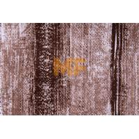 Quality Polyester Warp Knitting Striped Upholstery Fabric With Soil Release Function wholesale