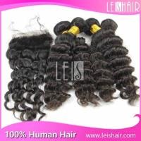 5A Good quality hot sale deep curly peruvian remy hair extension
