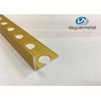 Quality Bright Golden Square Aluminium Trim U Profile With Hole Punched wholesale