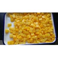 Buy cheap Fruit Jelly Snacks Canned Yellow Peach Dices In Light Syrup Promote Appetite from Wholesalers