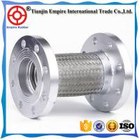 China Different diameter 304 or 316 Stainless Steel teflon flexible metal hose with flange end and braided sleeving on sale