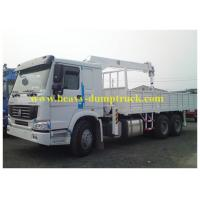 Buy cheap Sinotruk howo truck mounted lorry crane 6x4 Right hand drive with warranty and spare parts from wholesalers