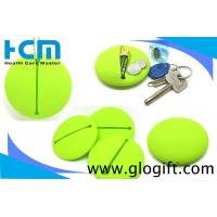 Quality Most popurlar round soft silicone key card coin bag logo can customized wholesale