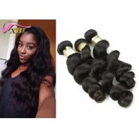 Full Cuticle 8A Unprocessed Indian Virgin Hair Natural Loose Wave With Transparent Pvc Bag