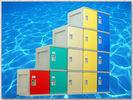 Buy cheap Clover Keyless Plastic Gym Lockers 5 Tier 1810 × 310 × 460mm Red Storage Lockers from wholesalers
