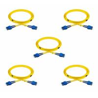 Buy cheap Duplex SC To SC Fiber Optic Patch Cord 2.0mm LSZH 9/125 Single Mode 2 Meters 5 Pack from wholesalers