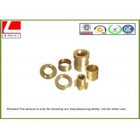 Quality CNC lathe parts smooth finish Brass shaft Computer Numerical Control wholesale