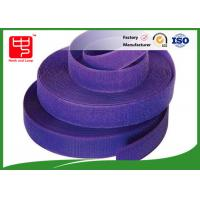 Buy cheap Purple strong hook and loop adhesive tape hook and loop tape roll for garments from Wholesalers