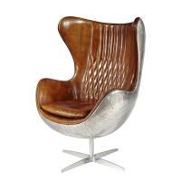 Buy cheap Brown Authentic Leather Office Desk Chair Durable Vintage Industrial Style Furniture from wholesalers