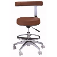 Buy cheap Fatory price dental assistant chair, dentist stool with round zinc alloy footrest from wholesalers
