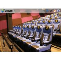 China Arc Screen 4D Cinema Equipment Simulator Motion Chairs Customized Color SGS on sale