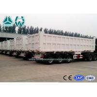 Buy cheap 45 Ton 3 Axles Dump Tractor Trailer / Semi Dump Trailers Low Friction from Wholesalers