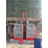 Buy cheap VFD Red Twin Cage Construction Material Hoists for Building SC100 from Wholesalers