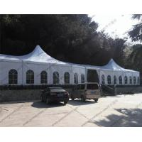 Large Luxury White Outdoor Event Tent High Peak Frame Durable For Exhibition