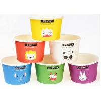 Buy cheap Eco Friendly Custom Branded Ice Cream Cups Disposable With Spoons And Lids from Wholesalers