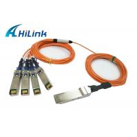 Buy cheap Hot Pluggable QSFP Optical Cable QSFP-4X10G-AOC2M Energy Saving Hilink Brand from Wholesalers