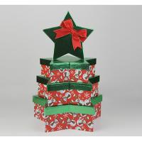 Buy cheap Fancy High Gloss Gift Boxes , Four Christmas Star Gift Storage Boxes With Overhanging Lid from Wholesalers