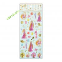 Buy cheap OEM Disney Cartoon Alice Girls Epoxy Stickers With Gold Foil 3D Handmade Crystal Fun Stickers from wholesalers