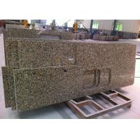 "Irregular Shape Granite Island Countertop 37"" Wide , Gillao Gold Material"