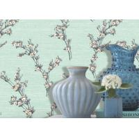 Buy cheap Green Leaf Pattern Non Woven Wallcovering / Flocking Home Decorating Wallpaper from Wholesalers