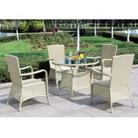 Buy cheap Light Green Outdoor Rattan Furniture BBQ Dining Set With Armrest from wholesalers