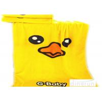 Quality Thickened Soft Oversized Beach Towels Duck Cartoon Yellow Color 70*140cm wholesale