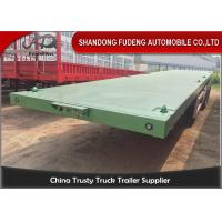 Buy cheap 3 Axles Flatbed Container Trailer for Carry Container , Hoses , Cement Bags from Wholesalers