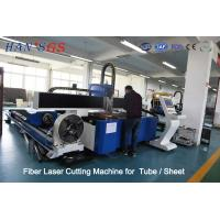 Buy cheap 380V / 50Hz / 60Hz CNC Fiber Laser Cutting Machine For Tube / Sheet Cutting from Wholesalers
