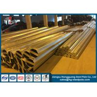 Buy cheap Hot Dip Galvanized Power Transmission Poles Durable For Transmission Line from Wholesalers