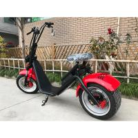 Quality Red Black Fat Tire Harley Scooter For Adult , 1200w Brushless Motor wholesale